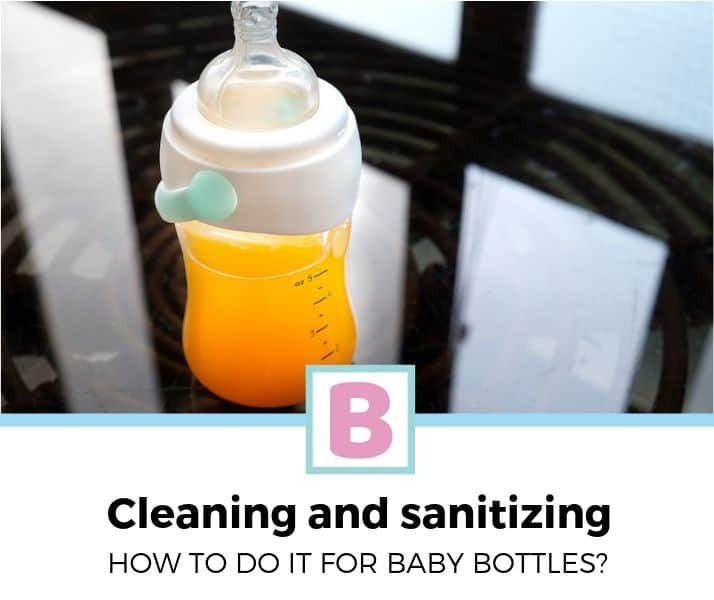 how to clean and sanitize baby bottles_
