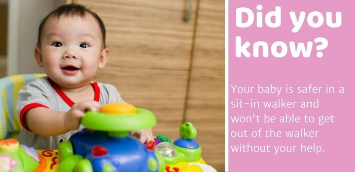 Did you know Baby Walker small spaces